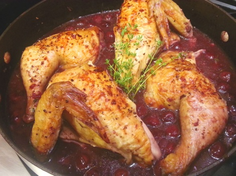 chicken in cherry sauce